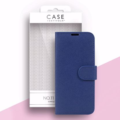 Picture of Case FortyFour Case FortyFour No.11 Case for Samsung Galaxy S21 Ultra in Cross Grain Dark Blue
